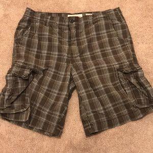 Mossimo plaid cargo shorts
